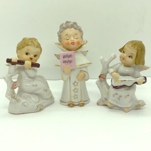 Sweet Musical Vintage Christmas Angel Figures
